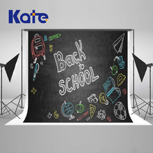 Kate 7x5ft / (2.2x1.5m) Back To School Season Memory Photography Backdrop Blackboard Graffiti Backgrounds For Photo Studio