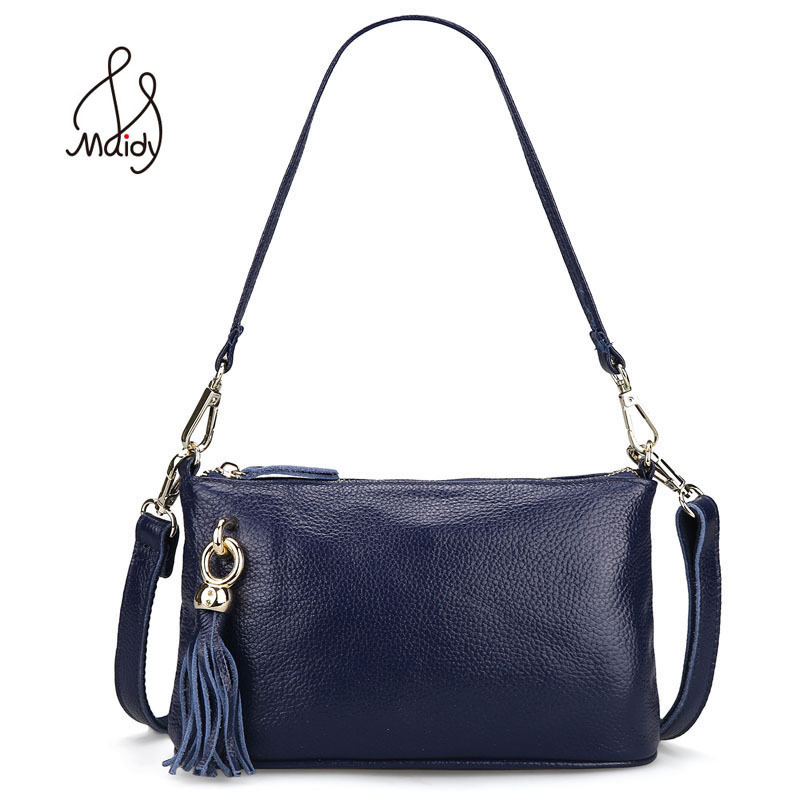 Fashion Genuine Cow Leather Bags Brand Luxury Soft Cowhide Leather Handbag For Women Bag Real Leather Tassel Wallet High Quality