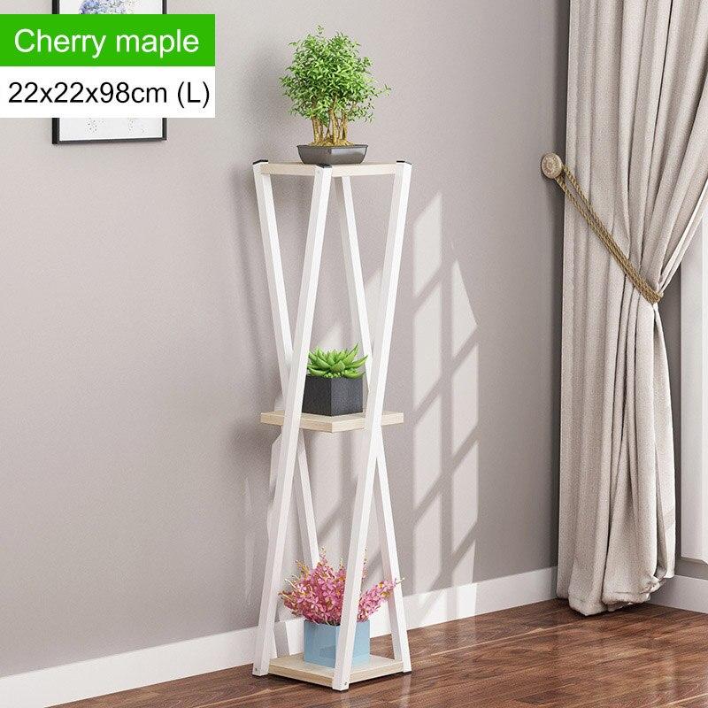 Многослойное платье с цветочным узором подставкой внутренние, из кованого железа балкон цветочный горшок стойки напольные Ящики для гостиной шкаф мебель для дома - Цвет: L168-L-white