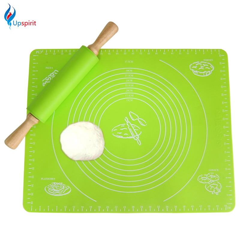 Large Size Silicone Baking Mat Cake Dough Fondant Rolling Kneading Mat Pasta Dough Pad Non Stick Baking Pastry Liners with Scale