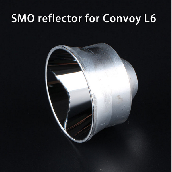 Jiguoor Smooth Reflector For Convoy L6 Flash Light Torch Flashlight Portable Lighting Accessories For DIY 67.6mm x 48.2mm aluminum smooth flashlight reflector silver