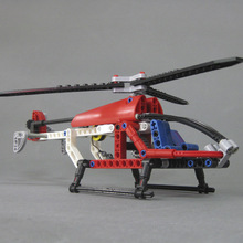 Toys for children CHINA BRAND 336 self-locking bricks Compatible with Lego TECHNIC Helicopter 8046 no original box
