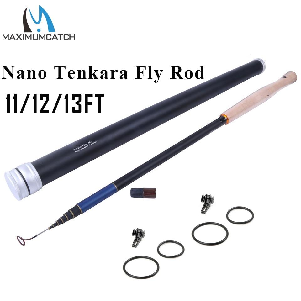 Maxcatch 11/12/13FT Nano Japonais Fiber De Carbone Pêche À la Mouche Tige 6:4/7:3 D'action 8/9 Segments Tenkara canne À mouche