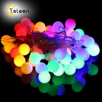 TSLEEN 2PCS Solar Power Led String Lights 50 Leds Waterproof Balls Fairy String 7M Party Wedding