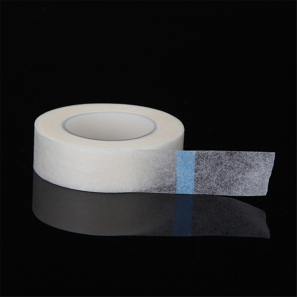 1 Roll Eyelash Extension Pads Tapes Eyelash Under Eye Pad Non-woven & PE Isolated Wrap Tapes For False Eyelash Patch Makeup Tool