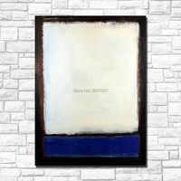 Imágenes de la pared para la decoración del hogar abstracto mark rotko azul y gris con blanco moderno sin marco pintura al óleo Barco por dhl y fedex