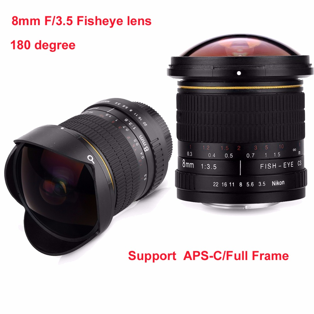 8mm F/3.5 Ultra Grand Angle Fisheye pour APS-C/Plein Cadre Canon EOS 1200D 760D 750D 700D 70D 60D 7D 6D 5D2 5D3 DSLR caméra - 2