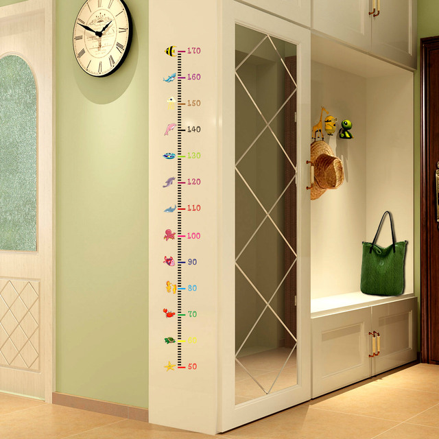 Kids Room Nursery Mural Diy Growth Chart Height Measure Wall Sticker