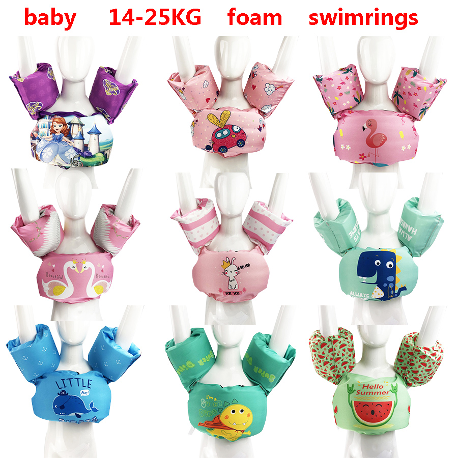 Child swim rings new style Baby life jacket baby life vest  Children Kids Water Sports Foam arm rings age 2-6 Polyester fiber