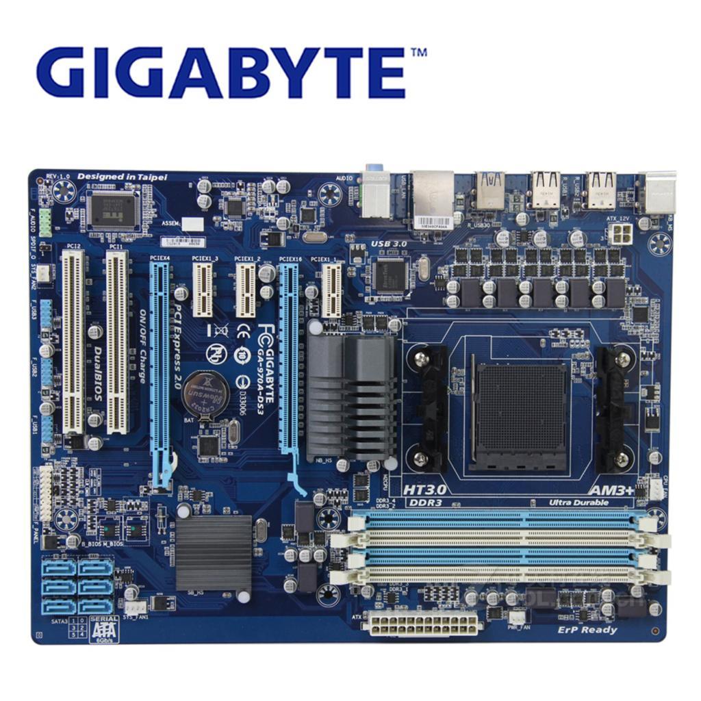 Socket AM3+ For AMD 970 Gigabyt GA-970A-DS3 100% Original Motherboard DDR3 DIMM USB3.0 32G Gigabyt 970A-DS3 Desktop SATA IIISocket AM3+ For AMD 970 Gigabyt GA-970A-DS3 100% Original Motherboard DDR3 DIMM USB3.0 32G Gigabyt 970A-DS3 Desktop SATA III