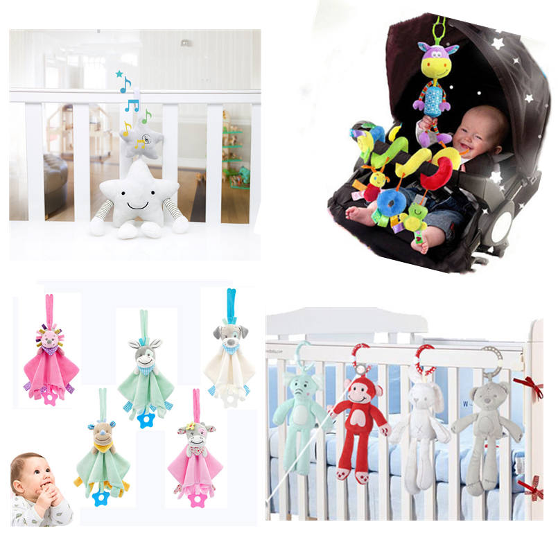 Toys For Baby Soft Infant Crib Bed Stroller Rattles Toy Cartoon Hanging Bell Newborn Plush Educational Baby Toys 0-12 Months