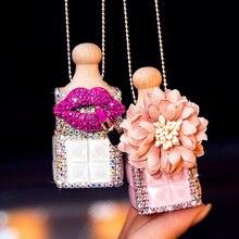 Crystal Car Air Freshener Perfume Diffuser Car Pendant Home Perfume Diffuser Hanging Ornament