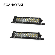 ECAHAYAKU 4x 7 inch Slim LED Light Bar work light double Row 60W led bar For SUV truck car boat 4WD ATV OffRoad pickup fog