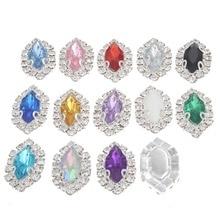 Flatback Rhinestone Strass Buttons Crystal Applique Stone Hotfix Trim DIY Gems Botones for Sew on Wedding Dresses Craft Supplies
