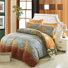 Cotton Bedding Sets With Crystal velvet Home Textile Ded Set Bedclothes Queen King Size Bedsheet And
