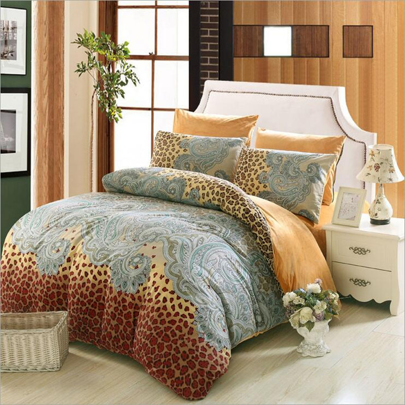 Cotton Bedding Sets With Crystal velvet font b Home b font font b Textile b font
