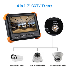 Seesii 4 in 1 CCTV Tester Monitor 7 inch 4K 1080P IPC Camera CVBS Analog Touch Screen with POE HDMI ONVIF WIFI IP Camera Tester ipc 3500a 3 5 inch 3 in 1 ip camera tester cctv tester monitor analog hd ahd ip camera testing onvif 1080p ptz control poe test