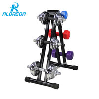 ALBREDA 50*50 Iron pipe ABS Plastic Home fitness equipment iron Dumbbell rack Gym dumbbell barbell Using pure iron material
