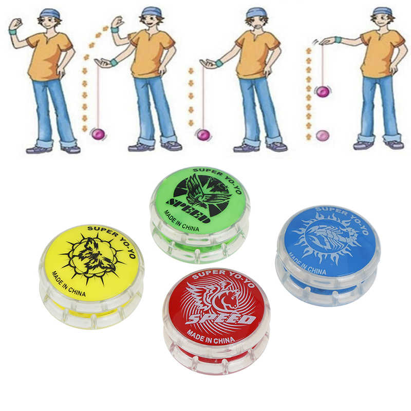 1pc Plastic Magic Yoyo Ball Toys For Kids Colorful Easy To Carry Yo-yo Toy Party Boy Classic Funny Yoyo Ball Toys Gift