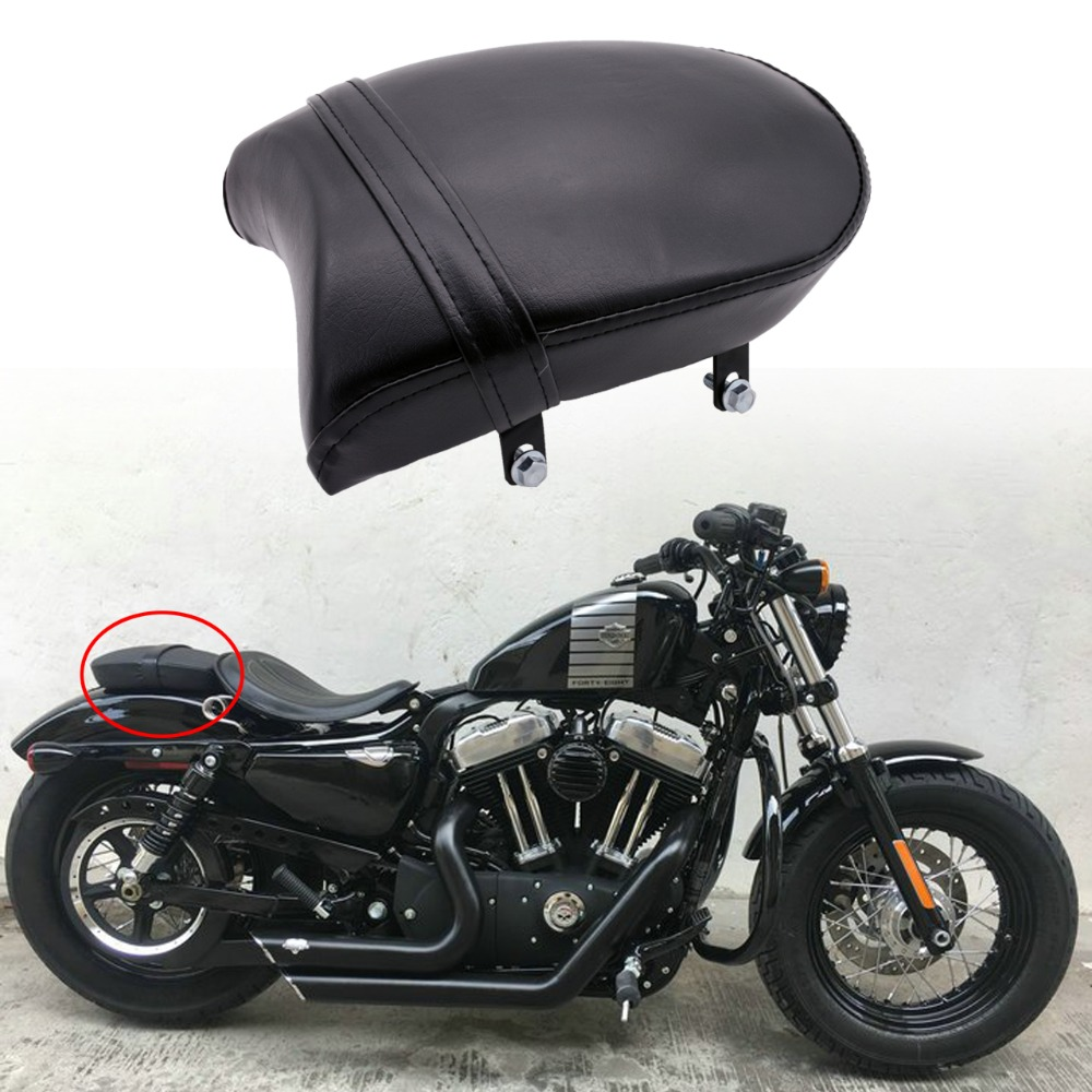 Universal Rear Passenger Pillion Pad Seat For Harley Sportster XL 883 883XL 883C 883N 2007-2013