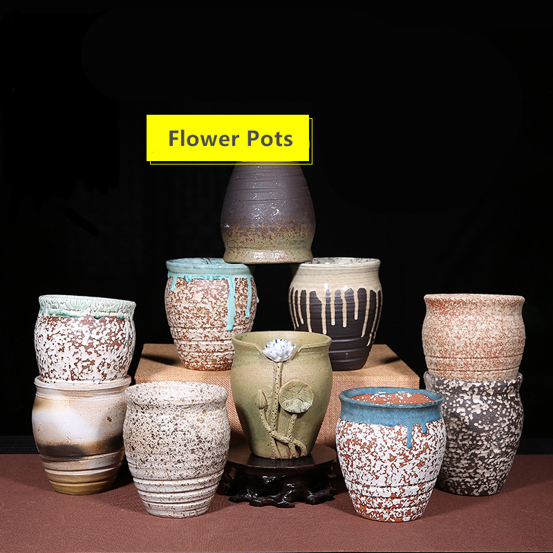 AliExpress & US $17.81 19% OFF Balcony Rough Ceramic pots Chinese Style Purple Clay Flower Pots Bonsai Pots groot planter pot for flowers Succulent planters-in ...