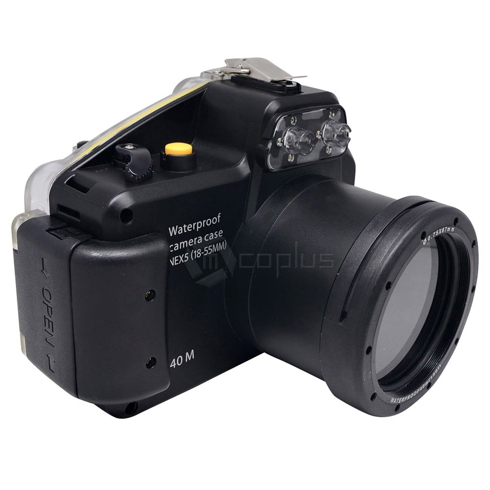 Waterproof Underwater Housing Camera bag Case for Sony Alpha NEX-5 NEX5 18-55mm Lens 65 95 55mm waterproof case