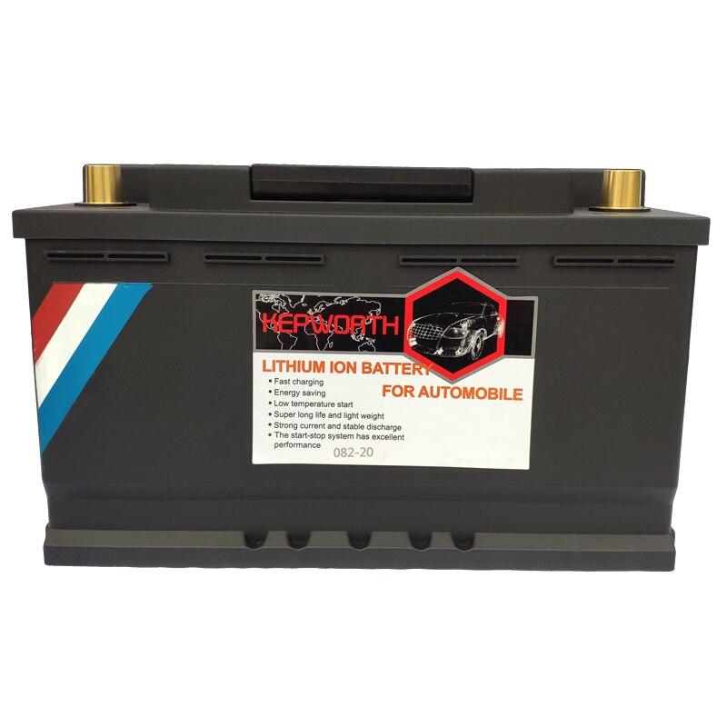 082-20 VDE moteur voiture LiFePO4 batterie 12V 82AH CCA 2100A démarreur de saut avec BMS tension Protection batterie au lithium fer