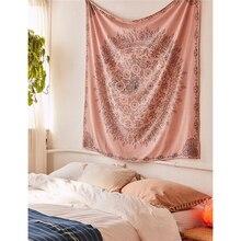 Бохо Декор настенный гобелен макраме Настенный Ковер психоделический с цветочным принтом, мандалой настенный гобелен из ткани общежития изголовье пляжа шаль