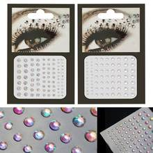 new Nail Decorations Body Face Jewelry Party Festival Crystal Eyes  Temporary Tattoo Glitter Body Rhinestone Stickers Flash 3e872c96109d