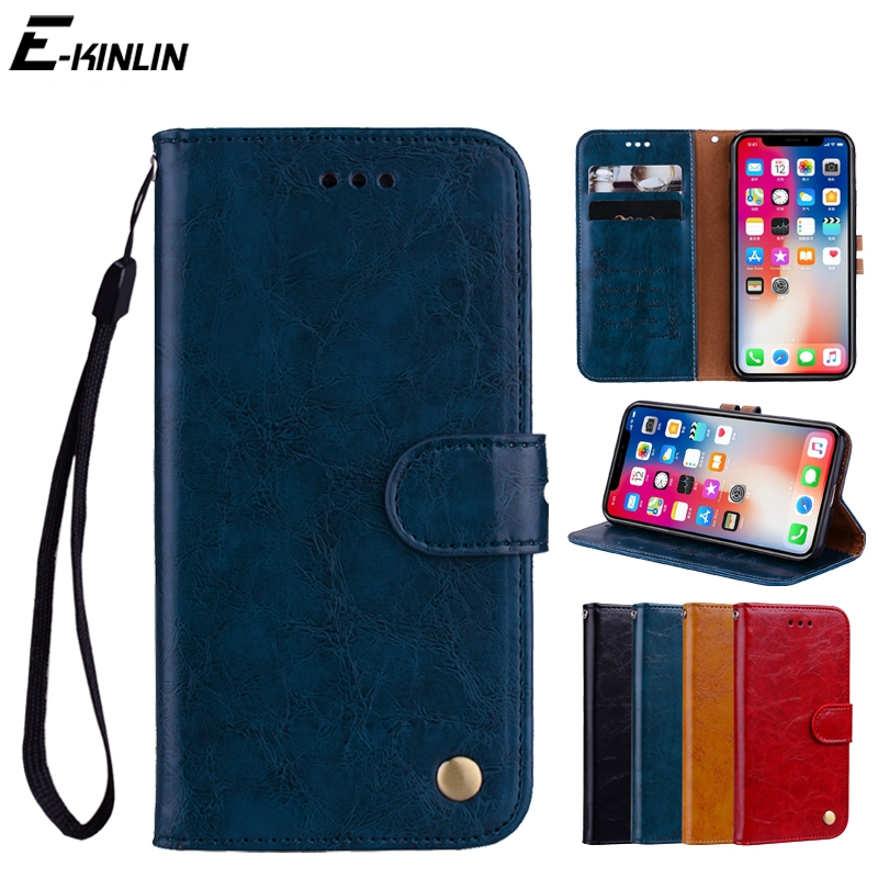 Luxury PU Leather Wallet Flip Case For iPhone X 10 Ten 8 7 6 6S Plus 5 5S SE With Card Slots Holder Stand Protective Cover ...
