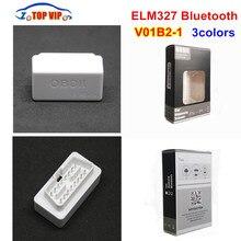 V01B2-1 супер мини ELM327 Bluetooth V2.1/V1.5 OBD2 автомобиля диагностический инструмент ELM 327 Bluetooth для Android/Symbian OBDII протокол