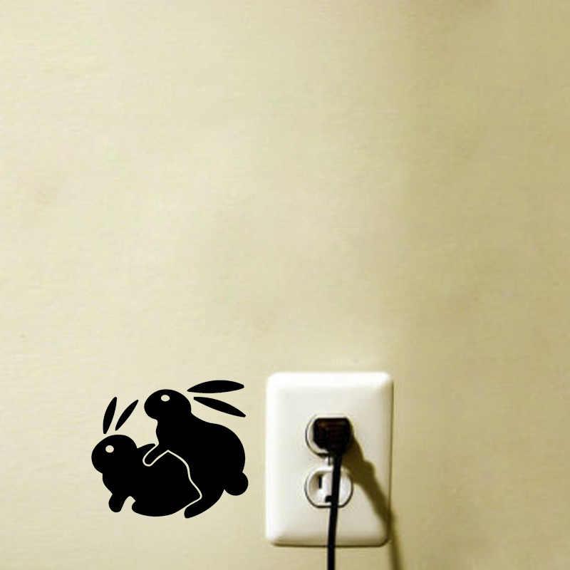 กระต่ายกระต่ายเพศ Fansy สวิทช์สติกเกอร์ที่ถอดออกได้สติ๊กเกอร์ติดผนัง 2WS0327