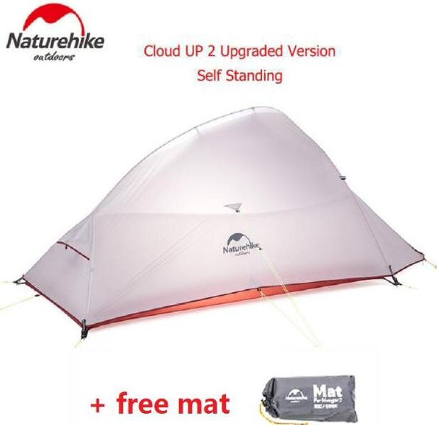Naturehike Cloud Up Series 1 2 3 Person Ultralight Tent 210T/20D Silicone Double-layer Camping Tent With MatNaturehike Cloud Up Series 1 2 3 Person Ultralight Tent 210T/20D Silicone Double-layer Camping Tent With Mat