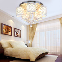 Led Modern Crystal Ceiling Lamp E27 Bedroom Child Lighting Ceiling Light Fixtures 110V 220V Flush Mount