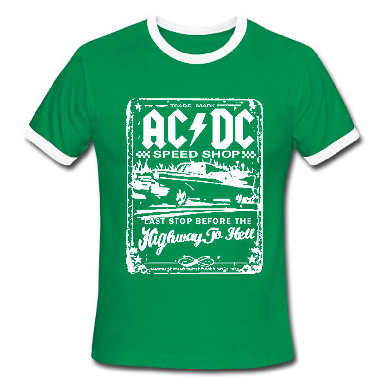 New Fashion Camisetas AC DC Speedshop T Shirts Mens acdc Graphic Tees Print  Casual Tshirt Plus Size O Neck Hip Hop Short Sleeve-in T-Shirts from Men s  ... e359ffc2926