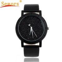 Newly design fashion starry watch women men sequins moon clock hands faux leather quartz wrist watch.jpg 200x200