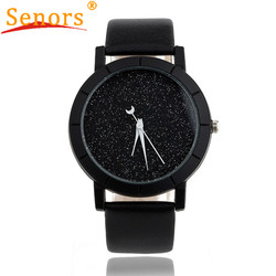 Newly design fashion starry watch women men sequins moon clock hands faux leather quartz wrist watch.jpg 250x250