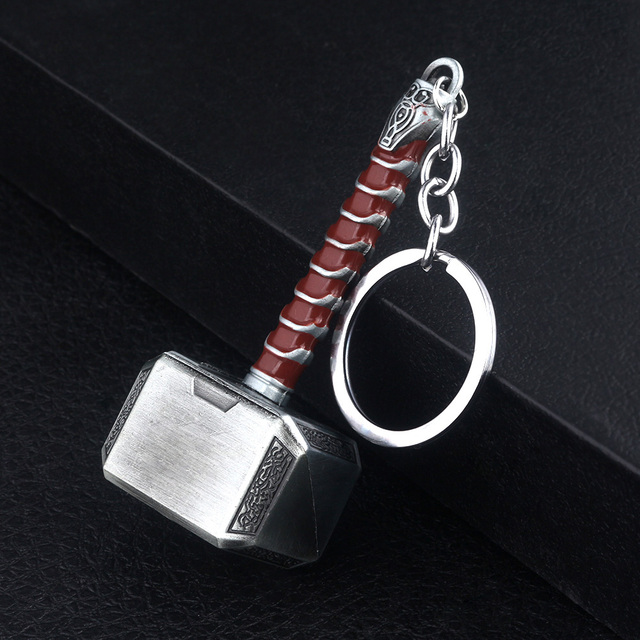 RJ de la película de Los Vengadores 4 alianza Thor martillo llavero el mundo oscuro arma regalo para los Fans de accesorios de la joyería
