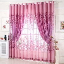 2016 new arrival embroidery Luxury Curtains for luxury living room 100% blackout  Ready Made Curtain For bedding room