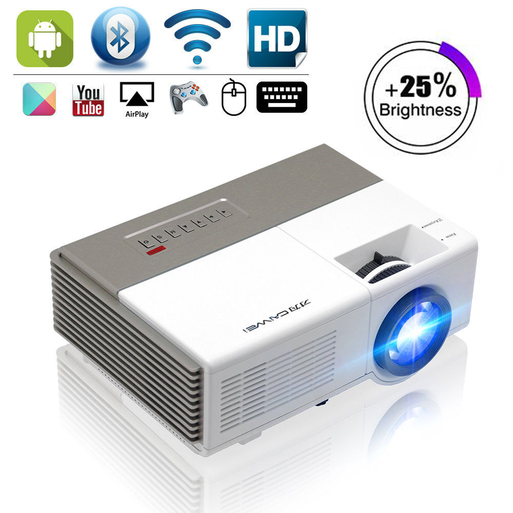 Caiwei Digital Led Projector Home Theater Beamer Lcd: CAIWEI Portable Mini LED Projector Home Cinema Android