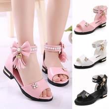 Летняя детская кожаная обувь для девочек Студенческая принцессы