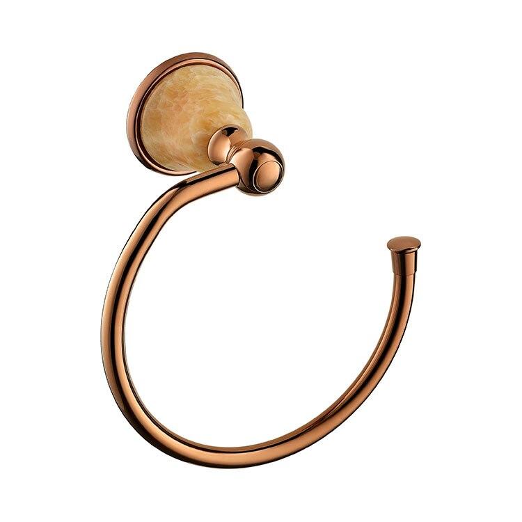 Brass Rose gold Finished Towel Ring,Bathroom Accessories Products Towel Holder,Towel Rack-D9088 metal ring holder for smartphones rose gold