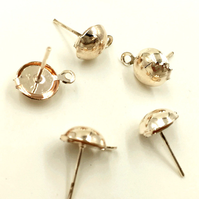 500Pcs Fashion Netal Earring Posts Tige Clous Rose Gold Jewelry