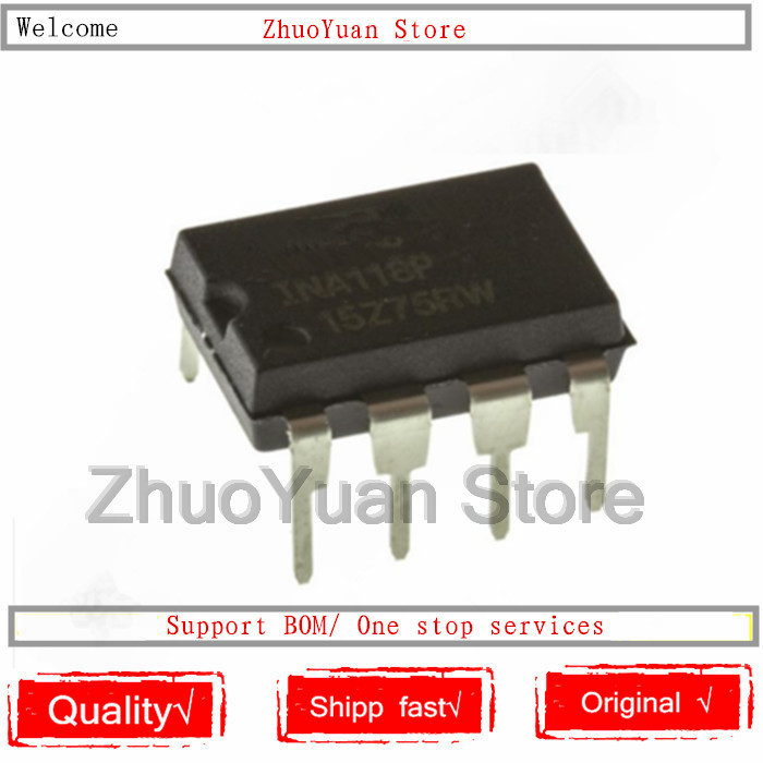 10PCS/lot New original INA118P INA118 DIP 8 IC chip Voice Recognition/Control Modules     - title=