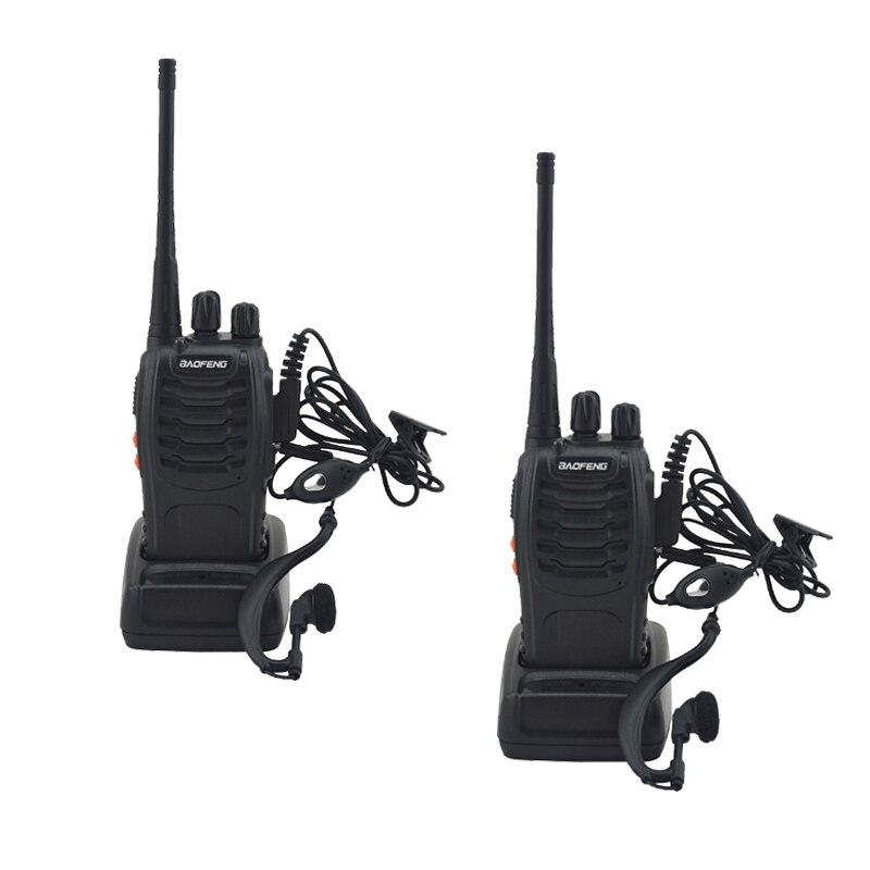 2 teile/los BF-888S baofeng walkie talkie 888 s UHF 400-470 MHz 16 Kanal Tragbare zweiwegradio mit hörer bf888s transceiver