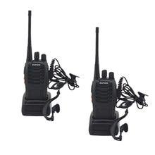 Портативная рация baofeng, 2 шт./лот, 16 каналов, 400-470 МГц, 888s, UHF, приемопередатчик bf888s