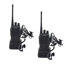 Walkie talkie baofeng uhf 2 pçs/lote-BF-888S mhz, rádio com 16 canais portátil e dois canais, 888s uhf 400-470mhz transmissor bf888s,
