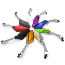 9 Color Universal Motorcycle Mirror 10mm 8mm Motorbike Rear View Mirrors Scooter  Accessories