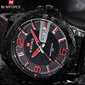 Las Mejores Marcas de lujo Relojes de Los Hombres Del Deporte de La Manera Reloj de Cuarzo Classic Fecha Cuero Genuino Masculino Impermeable reloj reloj hombre