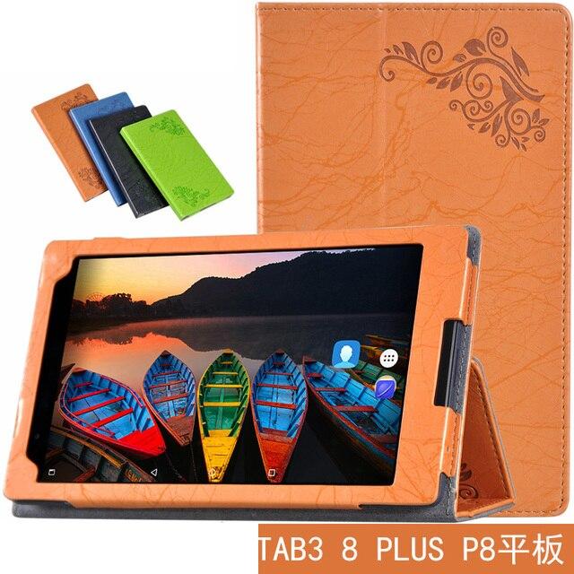 Ultra Slim Флип Стоять Защитный Печати Цветок PU Кожаный Чехол Чехол Для Lenovo P8 (3 8 Плюс) TB-8703 TB-8703F TB-8703N Tablet